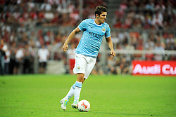 01.08.2013, Allianz Arena, Muenchen, Audi Cup 2013, FC Bayern Muenchen vs Manchester City, im Bild, Stevan JOVETIC (Manchester City), Freisteller, Ganzkoerper, Ganzfigur, Einzelaktion, quer, querformat, horizontal, landscape, Aktion,  // during the Audi Cup 2013 match between FC Bayern Muenchen and Manchester City at the Allianz Arena, Munich, Germany on 2013/08/01. EXPA Pictures © 2013, PhotoCredit: EXPA/ Eibner/ Wolfgang Stuetzle<br /> <br /> ***** ATTENTION - OUT OF GER *****