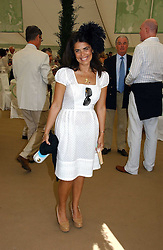 Fashion designer DANIELLA HELAYEL at the Cartier International polo at Guards Polo Club, Windsor Great Park, on 30th July 2006.<br />