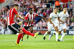 Goal, Dusan Tadic of Southampton scores a penalty, Southampton 2-0 Vitesse Arnhem - Mandatory by-line: Jason Brown/JMP - Mobile 07966386802 - 31/07/2015 - SPORT - FOOTBALL - Southampton, St Mary's Stadium - Southampton v Vitesse Arnhem - Europa League