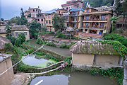 Hani Minority village, Yuanyang County, in Honghe Prefecture in southeastern Yunnan province, China,