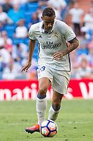 Real Madrid's Danilo Luiz da Silva during the match of La Liga between Real Madrid and SD Eibar at Santiago Bernabeu Stadium in Madrid. October 02, 2016. (ALTERPHOTOS/Rodrigo Jimenez)