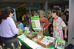 Norwich Pride, 28 July 2018 UK - Green Party stall