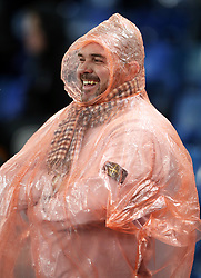 """Fan wrapped up prior to kick-off during the Premier League match at Selhurst Park, London. PRESS ASSOCIATION Photo. Picture date: Saturday November 10, 2018. See PA story SOCCER Palace. Photo credit should read: John Walton/PA Wire. RESTRICTIONS: EDITORIAL USE ONLY No use with unauthorised audio, video, data, fixture lists, club/league logos or """"live"""" services. Online in-match use limited to 120 images, no video emulation. No use in betting, games or single club/league/player publications."""