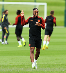 Raheem Sterling of Manchester City smiles during training - Mandatory by-line: Matt McNulty/JMP - 12/09/2016 - FOOTBALL - Manchester City - Training session ahead of Champions League Group C match against Borussia Monchengladbach