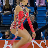 Evgenia Kanaeva (RUS) performs with the rope during the final of the 2nd Garantiqa Rythmic Gymnastics World Cup held in Debrecen, Hungary. Sunday, 07. March 2010. ATTILA VOLGYI