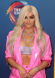 FOX's Teen Choice Awards 2018 at The Forum in Inglewood. California on August 12, 2018. CAP/MPIFS ©MPIFS/Capital Pictures. 12 Aug 2018 Pictured: Bebe Rexha. Photo credit: MPIFS/Capital Pictures / MEGA TheMegaAgency.com +1 888 505 6342
