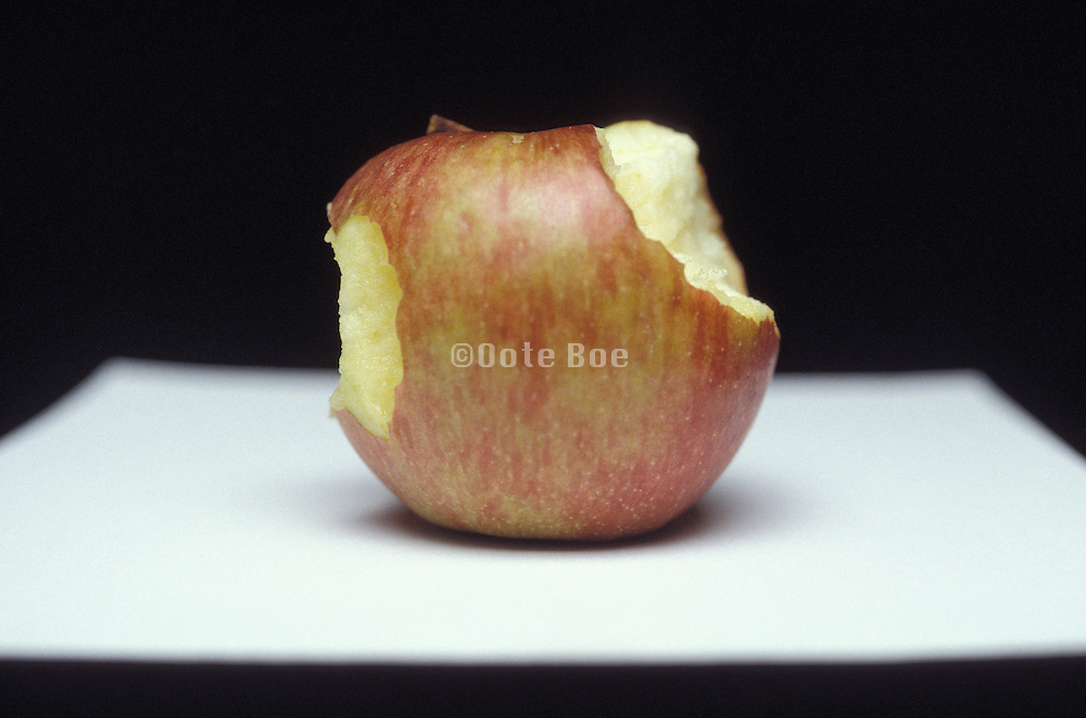 apple with two bites out of it