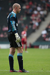 Bristol City Goalkeeper, Frank Fielding  - Photo mandatory by-line: Nigel Pitts-Drake/JMP - Tel: Mobile: 07966 386802 24/08/2013 - SPORT - FOOTBALL - Stadium MK - Milton Keynes - Milton Keynes Dons V Bristol City - Sky Bet League One