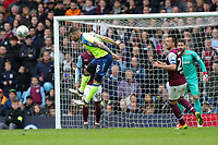 Aston Villa v Derby County - Sky Bet Championship<br /> BIRMINGHAM, ENGLAND - APRIL 28 :  Bradley Johnson, of Derby County, clears the ball with a header