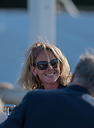 Henley-on-Thames. United Kingdom.  Hollandia  Roeiclub, coach. Kirsten VAN DER KOLK,  2017 Henley Royal Regatta, Henley Reach, River Thames. <br /> <br /> <br /> 18:48:16  Saturday  01/07/2017   <br /> <br /> [Mandatory Credit. Peter SPURRIER/Intersport Images.