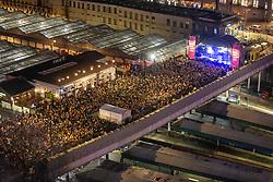 The crowd at Gerry Cinnamon. Hogmanay in Edinburgh.
