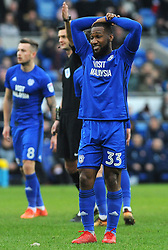 Junior Hoilett of Cardiff City reacts after missing a chance to score - Mandatory by-line: Nizaam Jones/JMP- 13/01/2018 -  FOOTBALL - Cardiff City Stadium - Cardiff, Wales -  Cardiff City v Sunderland - Sky Bet Championship