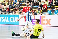 Benfica's Alessandro Patias and Juanjo during UEFA Futsal Cup 2015/2016 3º/4º place match. April 22,2016. (ALTERPHOTOS/Acero)