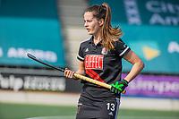 AMSTELVEEN - Sabine Plonissen (Adam)  tijdens  de hoofdklasse hockey competitiewedstrijd dames, Amsterdam-Den Bosch (0-1)  COPYRIGHT KOEN SUYK