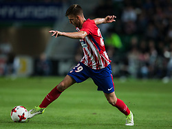 October 25, 2017 - Elche, Elche, Spain - Sergi of Atletico de Madrid driving the ball during the Spanish Copa del Rey (King's Cup) round of 32 first leg football match between.Elche CF and Atletico de Madrid at the Martinez Valero stadium in Elche (Credit Image: © Sergio Lopez/Pacific Press via ZUMA Wire)