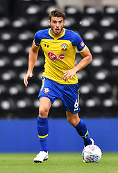 "Southampton's Wesley Hoedt during a pre season friendly match at Pride Park, Derby. PRESS ASSOCIATION Photo. Picture date: Saturday July 21, 2018. Photo credit should read: Anthony Devlin/PA Wire. EDITORIAL USE ONLY No use with unauthorised audio, video, data, fixture lists, club/league logos or ""live"" services. Online in-match use limited to 75 images, no video emulation. No use in betting, games or single club/league/player publications."