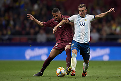 March 22, 2019 - Madrid, Madrid, Spain - Yangel Herrera (Huesca) of Venezuela and Giovani Lo Celso (Betis) of Argentina competes for the ball during the international friendly match between Argentina and Venezuela at Wanda Metropolitano Stadium in Madrid, Spain on March 22 2019. (Credit Image: © Jose Breton/NurPhoto via ZUMA Press)
