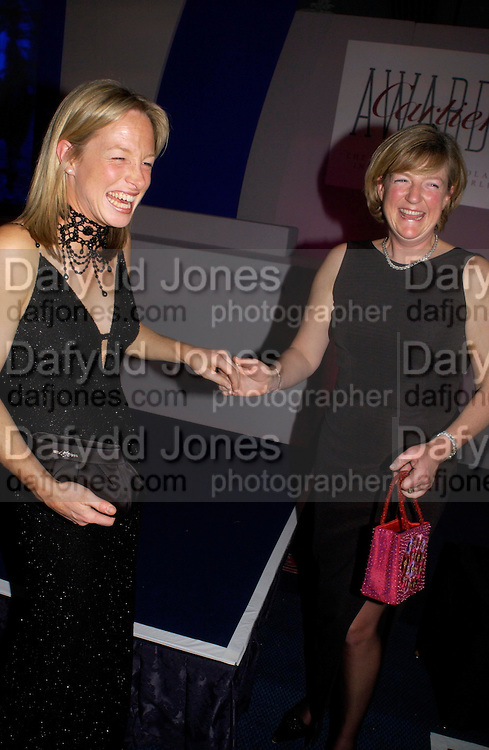 Dede Gold and Frances Stanley, The 2004 Cartier Racing awards, Four Seasons Hotel. London. 17 November 2004. ONE TIME USE ONLY - DO NOT ARCHIVE  © Copyright Photograph by Dafydd Jones 66 Stockwell Park Rd. London SW9 0DA Tel 020 7733 0108 www.dafjones.com