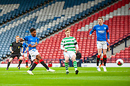 Adedapo Awokya-Mebude (#) of Rangers FC scores the second goal during the Scottish FA Youth Cup Final match between Celtic and Rangers at Hampden Park, Glasgow, United Kingdom on 25 April 2019.
