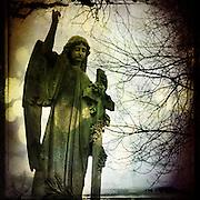 Stone angel memorial