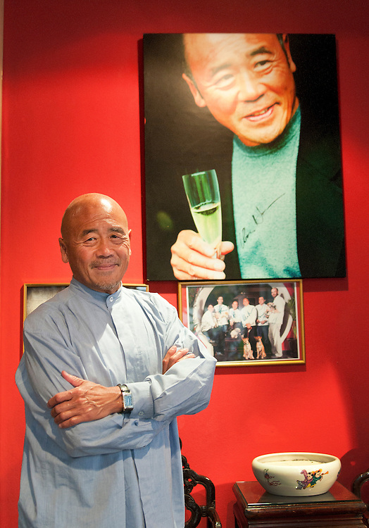 World famous chef, Ken Hom, at his restaurant Maison Chin in Bangkok, Thailand.