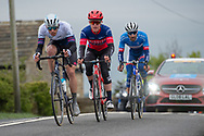 Jacob Scott of Swiftcarbon Pro cycling, Rob Scott of Team Wiggins Lecol & Fabien Grellier of Total Direct Energie during the second stage of the Tour de Yorkshire from Barnsley to Bedale, Barnsley, United Kingdom on 3 May 2019.
