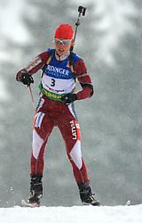 Gerda Krumina (LAT) at Women 15 km Individual at E.ON Ruhrgas IBU World Cup Biathlon in Hochfilzen (replacement Pokljuka), on December 18, 2008, in Hochfilzen, Austria. (Photo by Vid Ponikvar / Sportida)