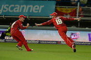 Arron Lilley celebrate the wicket of David Willey during the NatWest T20 Blast final match between Northants Steelbacks and Lancashire Lightning at Edgbaston, Birmingham, United Kingdom on 29 August 2015. Photo by David Vokes.