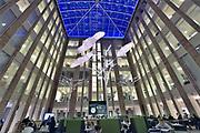 Nederland, Nijmegen, 6-2-2019Voormalige hal, van het A-gebouw van het Radboud ziekenhuis, het eerste gebouw van dit ziekenhuis in de zestiger jaren gebouwd. Nu doet het dienst als restaurant voor personeel en bezoekers . Het is een monument vanwege de architectuur van die tijd . Ziekenhuis , Radboudumc. Foto: Flip Franssen