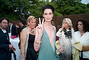 ERIN O'CONNOR, 2009 Serpentine Gallery Summer party. Sponsored by Canvas TV. Serpentine Gallery Pavilion designed by Kazuyo Sejima and Ryue Nishizawa of SANAA. Kensington Gdns. London. 9 July 2009.