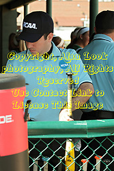 09 May 2014:  Umpires check out and register the bats during an NCAA Division III women's softball championship series game between the Lake Forest Foresters and the Illinois Wesleyan Titans in Bloomington IL