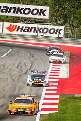 03.08.2014, Red Bull Ring, Spielberg, AUT, DTM Red Bull Ring, Renntag, im Bild Jamie Green, (GBR, Hoffmann Group Audi RS 5 DTM), Marco Wittman, (GER, 1. Platz, Rennen, Ice-Watch BMW M4 DTM), Martin Tomczyk, (GER, BMW M Performance Zubehoer M4 DTM), Timo Schneider, (GER, Audi Test Audi RS 5 DTM) // during the DTM Championships 2014 at the Red Bull Ring in Spielberg, Austria, 2014/08/03, EXPA Pictures © 2014, PhotoCredit: EXPA/ M.Kuhnke