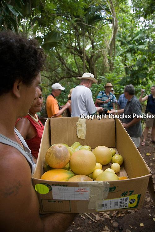Vaipaee Community Botanical Garden, Ua Huka, Marquesas Islands, French Polynesia, (Editorial use only)<br />