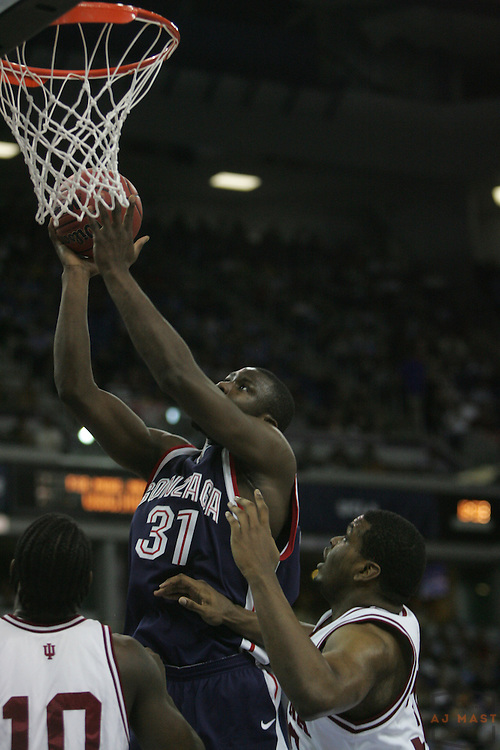 15 March 2007: Gonzaga's Abdullahi Kuso (31) as the Indiana Hoosiers played the Gonzaga Bulldogs in the opening round of the 2007 NCAA Tournament in  Sacramento, CA. Indiana won 70-57.