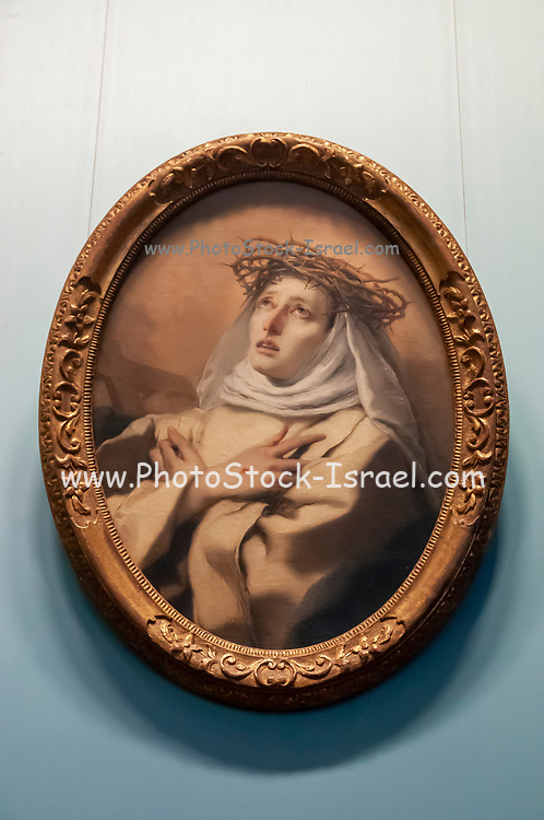 St. Catherine of Siena Alter art from Santa Giustina Monastery at the Kunsthistorisches Museum (Museum of Fine Arts) in Vienna, Austria