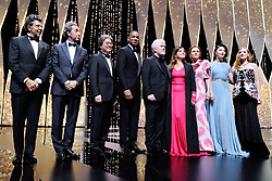 Gabriel Yared, Paolo Sorrentino, Park Chan-wook and Will Smith, President of the jury Pedro Almodovar and jury members Agnes Jaoui, Maren Ade, Fan Bingbing and Jessica Chastain attending the Opening Ceremony as part of the 70th Cannes Film Festival in Cannes, France on May 17, 2017. Photo by Aurore Marechal/ABACAPRESS.COM