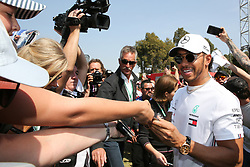 March 16, 2019 - LEWIS HAMILTON arriving on Qualifying Saturday at the 2019 Formula 1 Australian Grand Prix on March 16, 2019 In Melbourne, Australia  (Credit Image: © Christopher Khoury/Australian Press Agency via ZUMA  Wire)