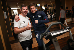 January 9, 2018 - La Manga, SPAIN - Anderlecht's physiotherapist Frederik Bracke and Anderlecht's Uros Spajic pictured during a fitness session on day five of the winter training camp of Belgian first division soccer team RSC Anderlecht, in La Manga, Spain, Tuesday 09 January 2018. BELGA PHOTO VIRGINIE LEFOUR (Credit Image: © Virginie Lefour/Belga via ZUMA Press)