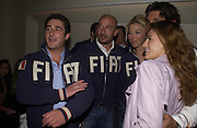 (Lto R)Luca del Bono,  Gianluca Vialli, Tamara Beckwith, Giorgio Veroni and Francesca Versace at Fiat Hydrogen launch at Sketch hosted by Lapo Elkann, SUPPLIED FOR ONE-TIME USE ONLY> DO NOT ARCHIVE. © Copyright Photograph by Dafydd Jones 66 Stockwell Park Rd. London SW9 0DA Tel 020 7733 0108 www.dafjones.com