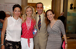 28 May 2003 - Ghislaine Maxwell daughter of the late newspaper owner Robert Maxwell, Jenny Halpern, Robert Hanson and Emily Oppenheimer at the Royal Academy's Summer Exhibition preview party held at The Royal Academy of Art, Burlington House, Piccadilly, London on 28th May 2003.<br /> <br /> Photo by Dominic O'Neill/Desmond O'Neill Features Ltd.  +44(0)1306 731608  www.donfeatures.com