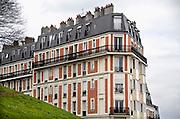 Frankrijk, Parijs, 28-3-2010Gebouwen bij de Sacre Coeur. Exterieur.Foto: Flip Franssen/Hollandse Hoogte