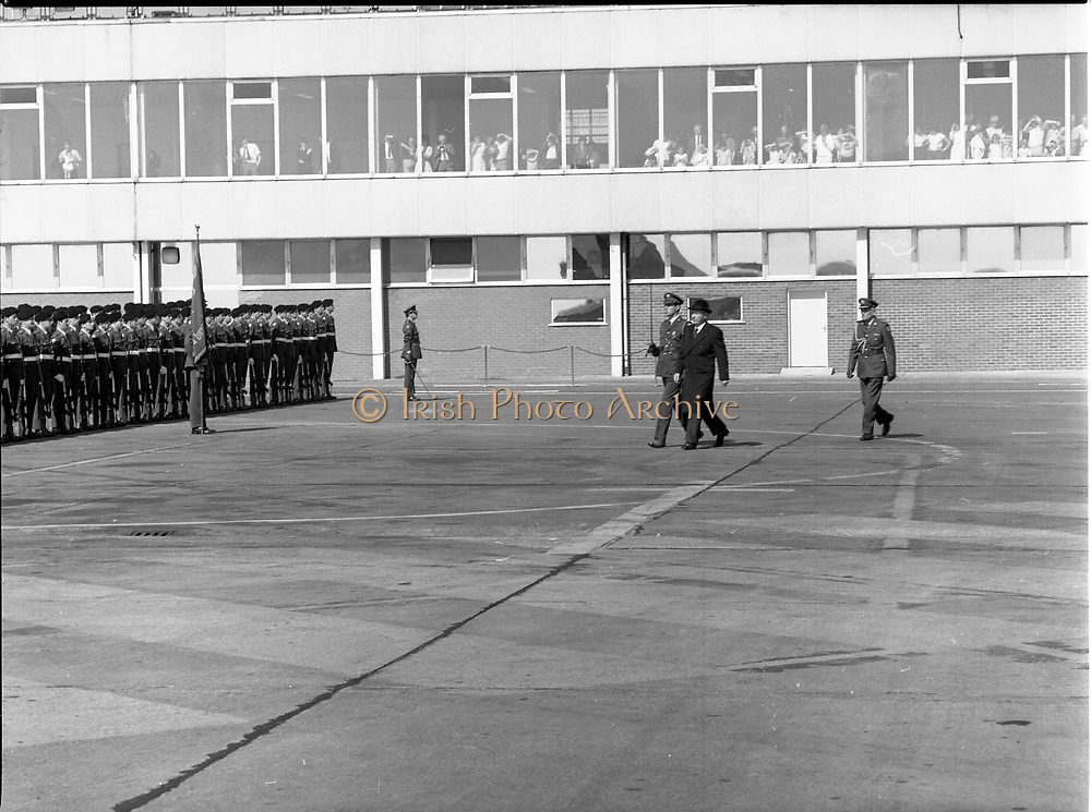 The President of Ireland Mr. Patrick Jonh Hillery leaving on state visit to Germany by plane,<br /> 13th May 1984