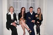 JOAN HICKS;  LARA SKEET; SOPHIE HICKS; OLYMPIA CAMPBELL;;, Cartier Tank Anglaise launch. Kensington Palace Orangery, London.  19 April 2012.