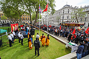 London, United Kingdom, May 18, 2021: Tamil activists gathered outside Downing Street in London, on Tuesday, May 18, 2021, to demand recognition of the Tamil genocide and to demand the truth about the hundreds of thousands of Tamils who have disappeared in recent years. (Photo by Vudi Xhymshiti/VXP)