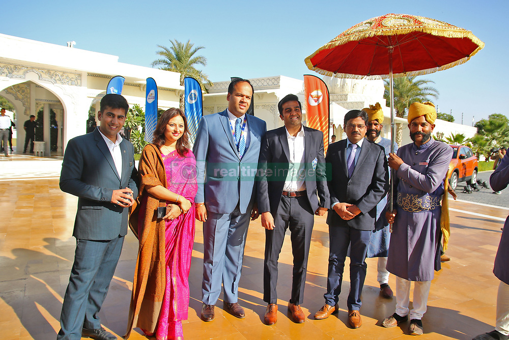 December 18, 2018 - Jaipur, Rajasthan, India - Delhi Capitals team owner Parth Jindal (C) arrives for the Indian Premier League 2019 auction in Jaipur on December 18, 2018, as teams prepare their player rosters ahead of the upcoming Twenty20 cricket tournament next year. The 2019 edition of the IPL -- one of the world's most-watched sporting events attracting the world's top stars -- is set to take place in April and May next year.(Photo By Vishal Bhatnagar/NurPhoto) (Credit Image: © Vishal Bhatnagar/NurPhoto via ZUMA Press)