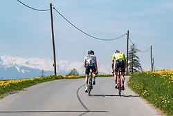 25.04.2018, Gnadenwald, AUT, ÖRV Trainingslager, UCI Straßenrad WM 2018, im Bild Gregor Mühlberger (AUT), Michael Gogl (AUT) // during a Testdrive for the UCI Road World Championships in Gnadenwald, Austria on 2018/04/25. EXPA Pictures © 2018, PhotoCredit: EXPA/ JFK