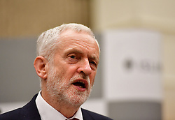Labour leader Jeremy Corbyn speaks after holding his Islington North seat at the Sobell Leisure Centre in Islington, north London.