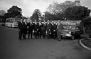 3/11/1967<br /> 11/3/1967<br /> 3 November 1967<br /> <br /> Mr. G.P. Harvey with the nine members of the Promotional team and their cars with which they will tour all of Great Britain (L-R) Dominic Mulvey;Denisw J. Foley of Cork; Kenneth W. Lendrum; John G. Whittaker of Cork; Maurice O'Reagan Reidy; Ronald Michael Delaney; Alick D Armstrong; William Murtagh and Kevin O'Doherty.<br /> Ford Anglia 105e car