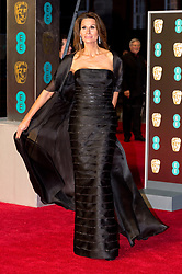 © Licensed to London News Pictures. 18/02/2018. CHRISTINA ESTRADA arrives on the red carpet for the EE British Academy Film Awards 2018, held at the Royal Albert Hall, London, UK. Photo credit: Ray Tang/LNP