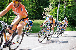 Annouska Koster (Rabo Liv) at Boels Hills Classic 2016. A 131km road race from Sittard to Berg en Terblijt, Netherlands on 27th May 2016.